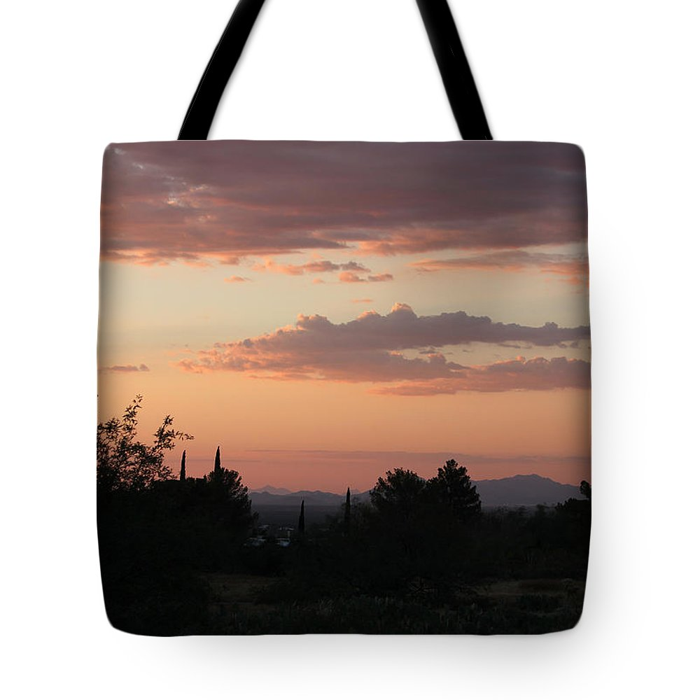 Sunset Tote Bag featuring the photograph Arizona Sunset by Suzanne Gaff