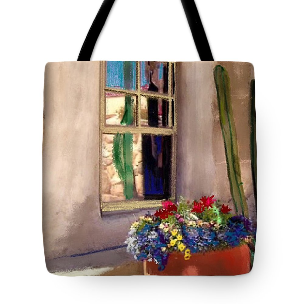 Arizona Window Tote Bag featuring the painting Arizona Window by Craig Nelson