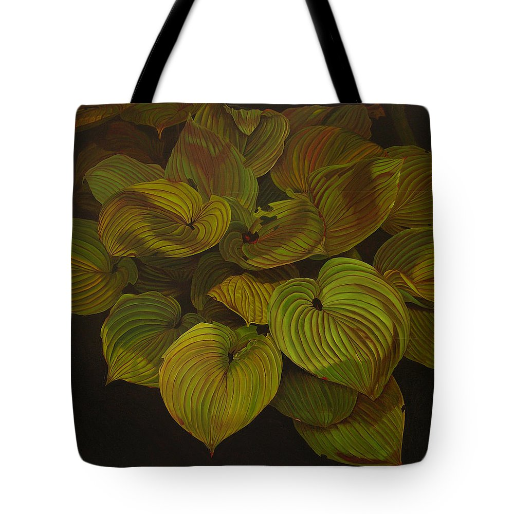 Plants Tote Bag featuring the painting Arkansas Green by Thu Nguyen