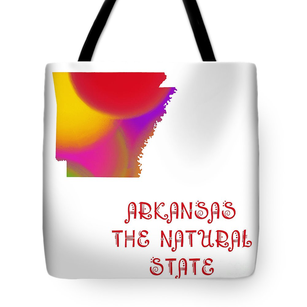 Andee Design Tote Bag featuring the digital art Arkansas State Map Collection 2 by Andee Design