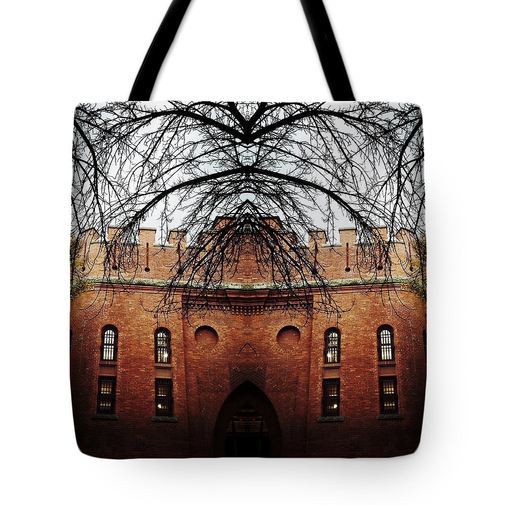 Architecture Tote Bag featuring the photograph Armory Symmetry by Natasha Marco