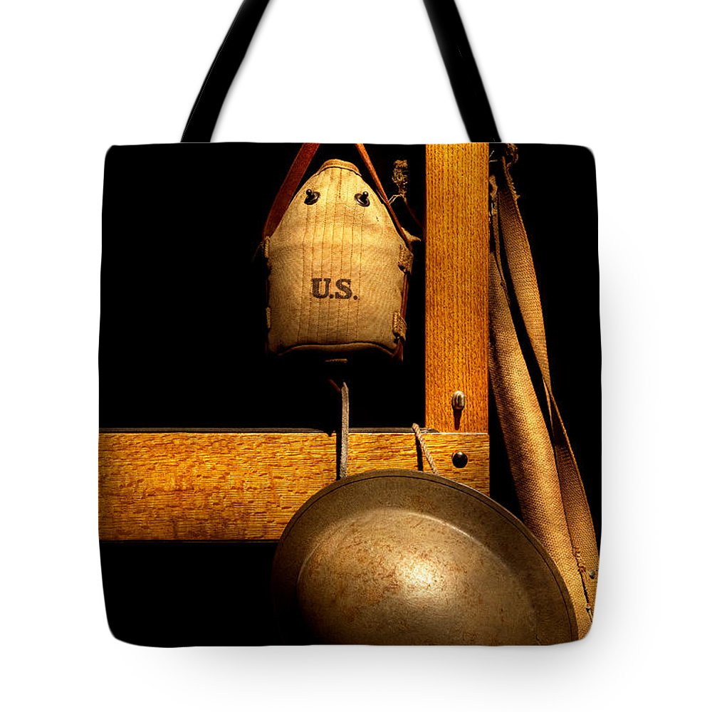 Soldier Tote Bag featuring the photograph Army - Life In The Military by Mike Savad
