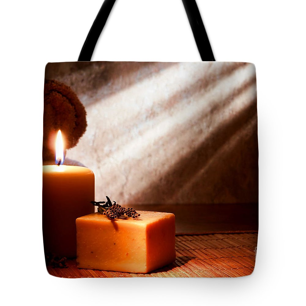 Aromatherapy Tote Bag featuring the photograph Aromatherapy Bath Soap by Olivier Le Queinec