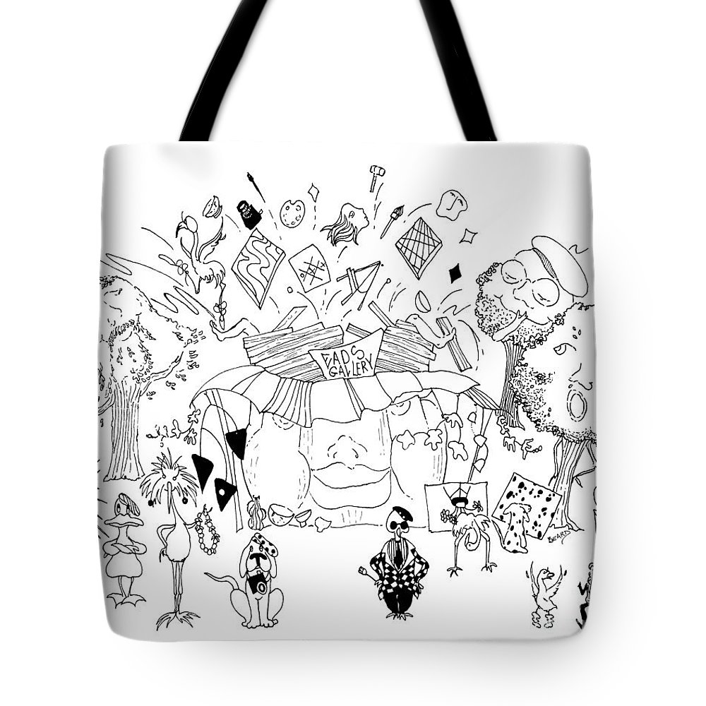 Drawing Tote Bag featuring the drawing Art Attack by Lizi Beard-Ward