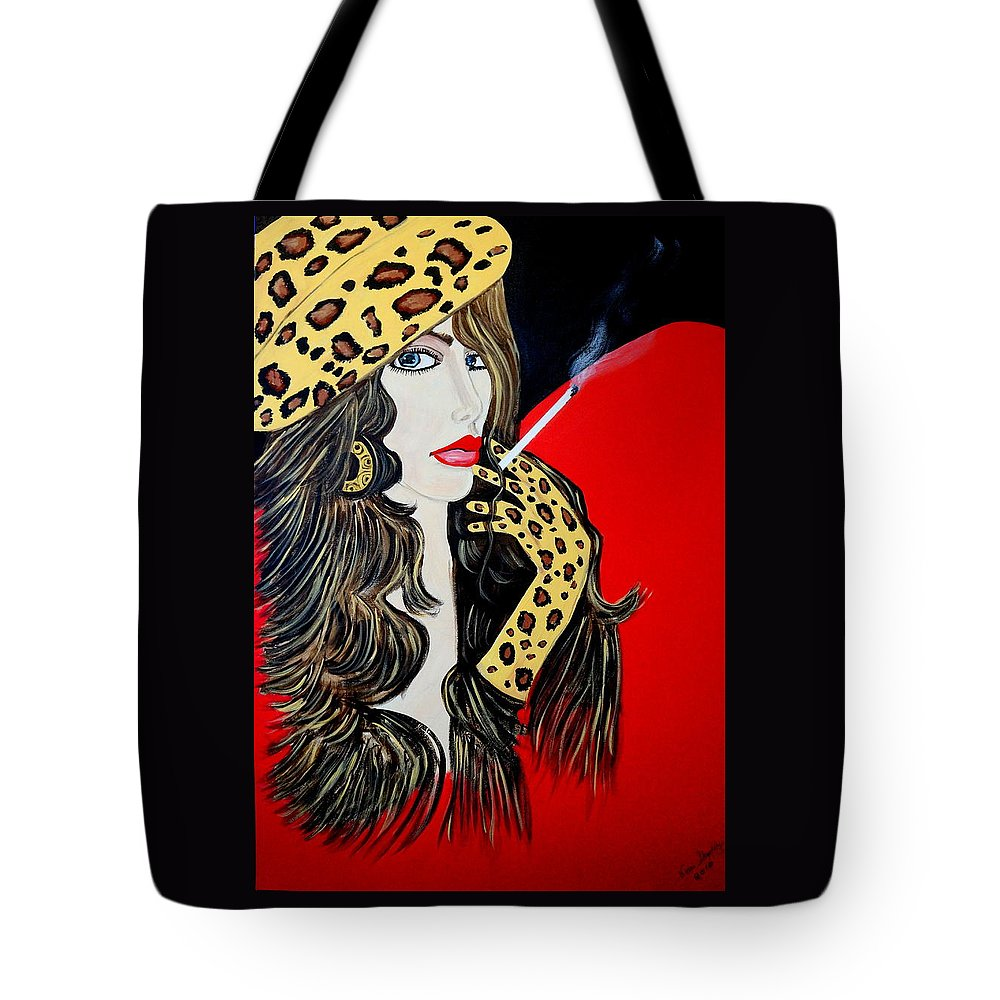 Miss Bell Tote Bag featuring the painting Art Deco Bell by Nora Shepley