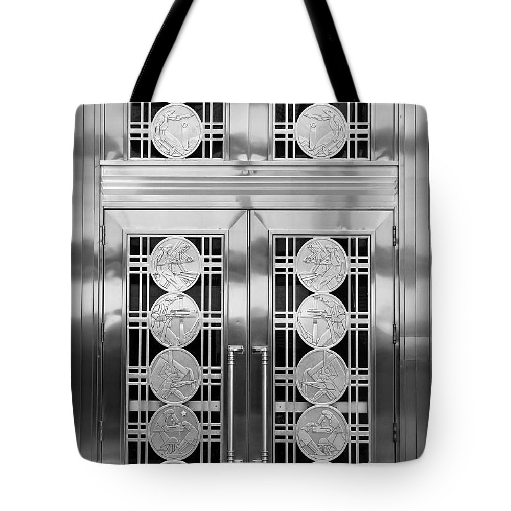 Art Deco Tote Bag featuring the photograph Art Deco Door 2 by Andrew Fare