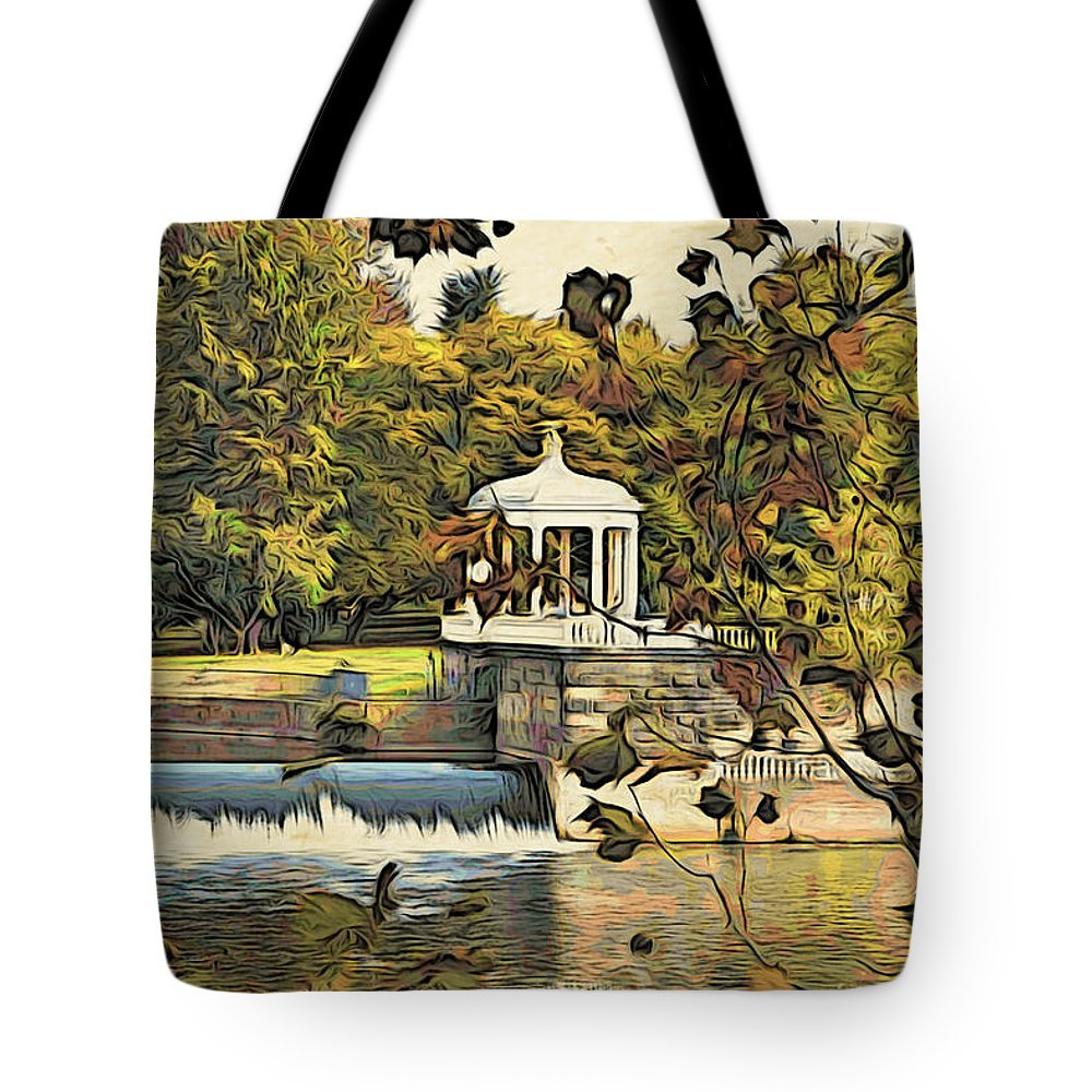 Art Museum Tote Bag featuring the photograph Art Museum Gazebo by Alice Gipson