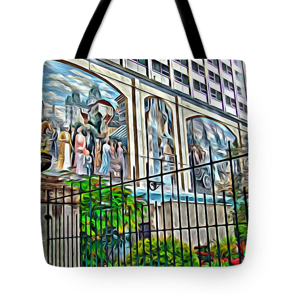 Montreal Art Scenic Tote Bag featuring the photograph Art On The Wall by Alice Gipson