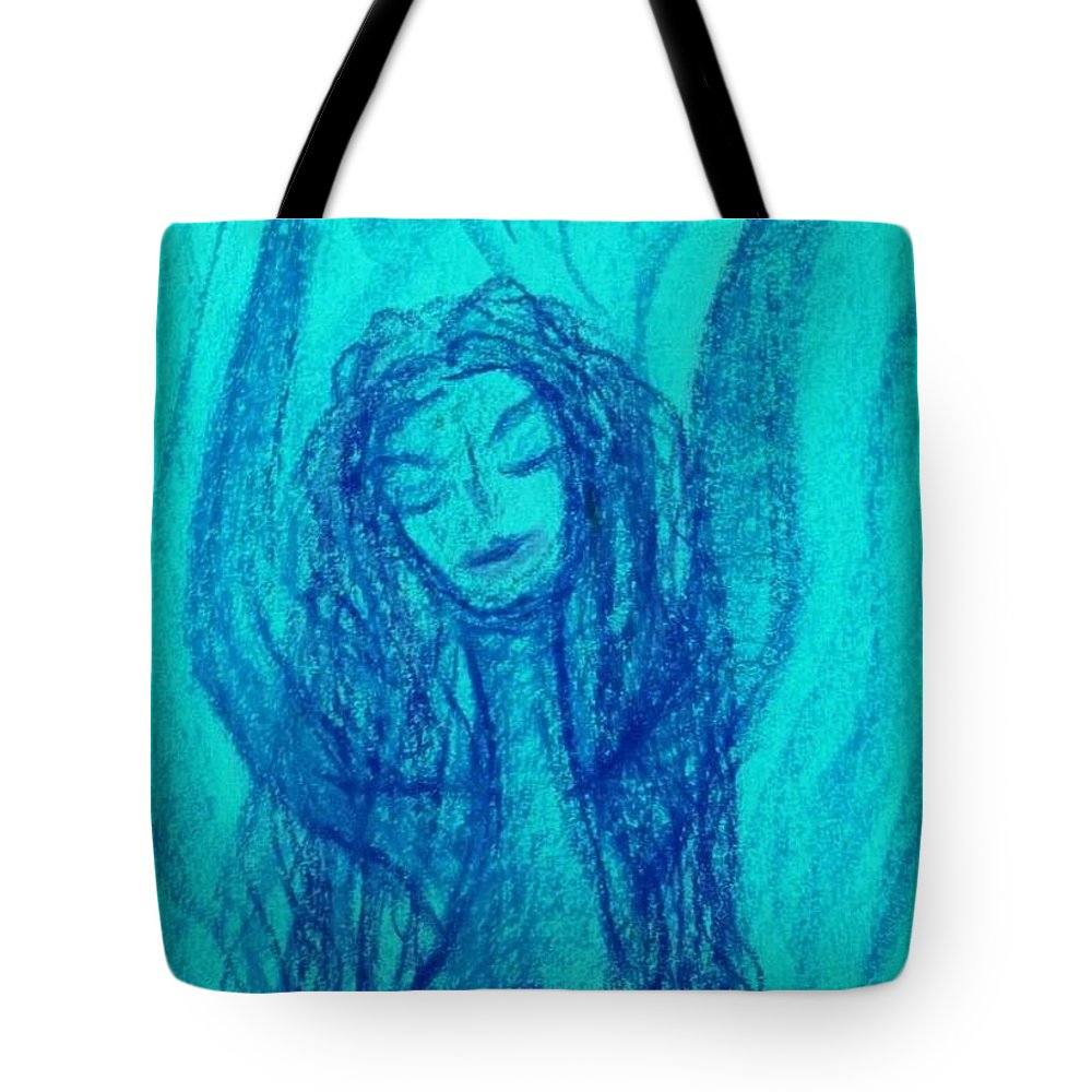 Ble Tote Bag featuring the photograph Art Therapy 166 by Michele Monk