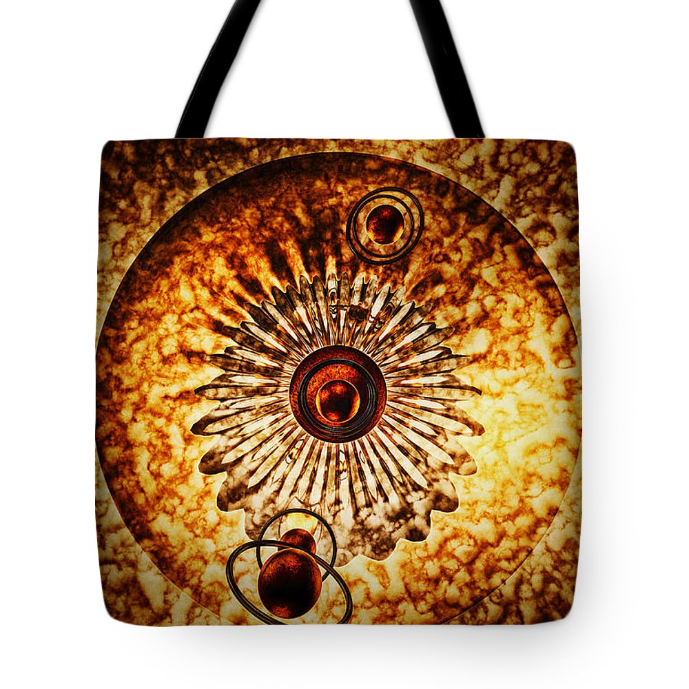 Galaxy Tote Bag featuring the digital art Artificial Galaxy by Ramon Martinez