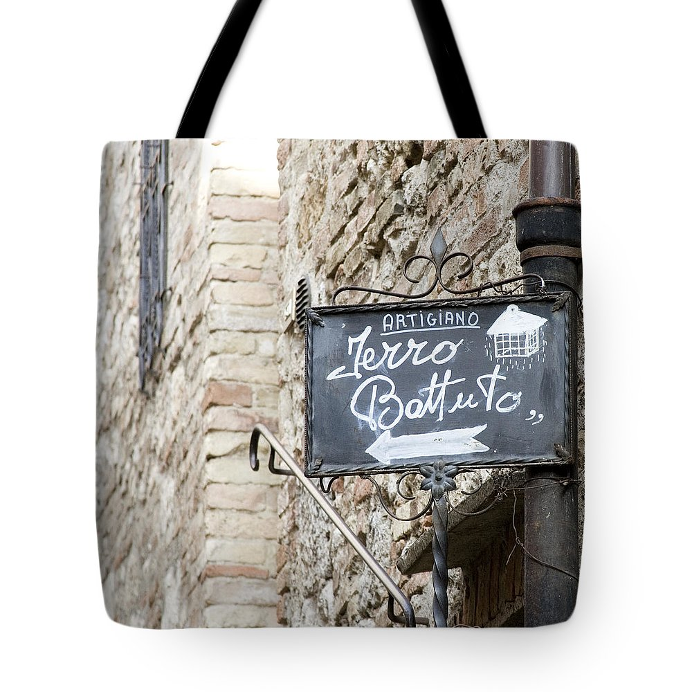 Italy Prints Tote Bag featuring the photograph Artigiano - Tuscany by Lisa Parrish