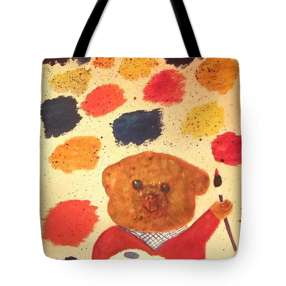 Artisan Tote Bag featuring the painting Artisan The Bear by Tracey Williams