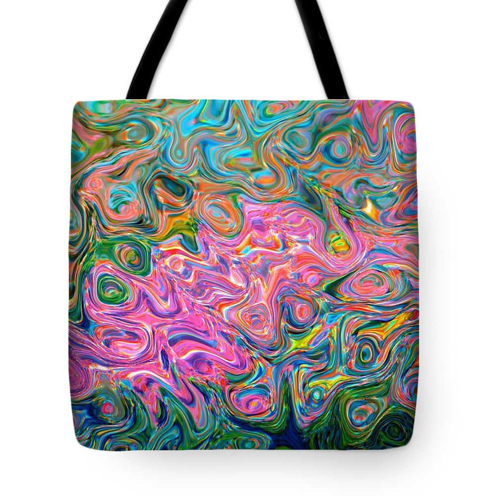 Abstract Tote Bag featuring the photograph Artistic Alchemy by Deena Stoddard