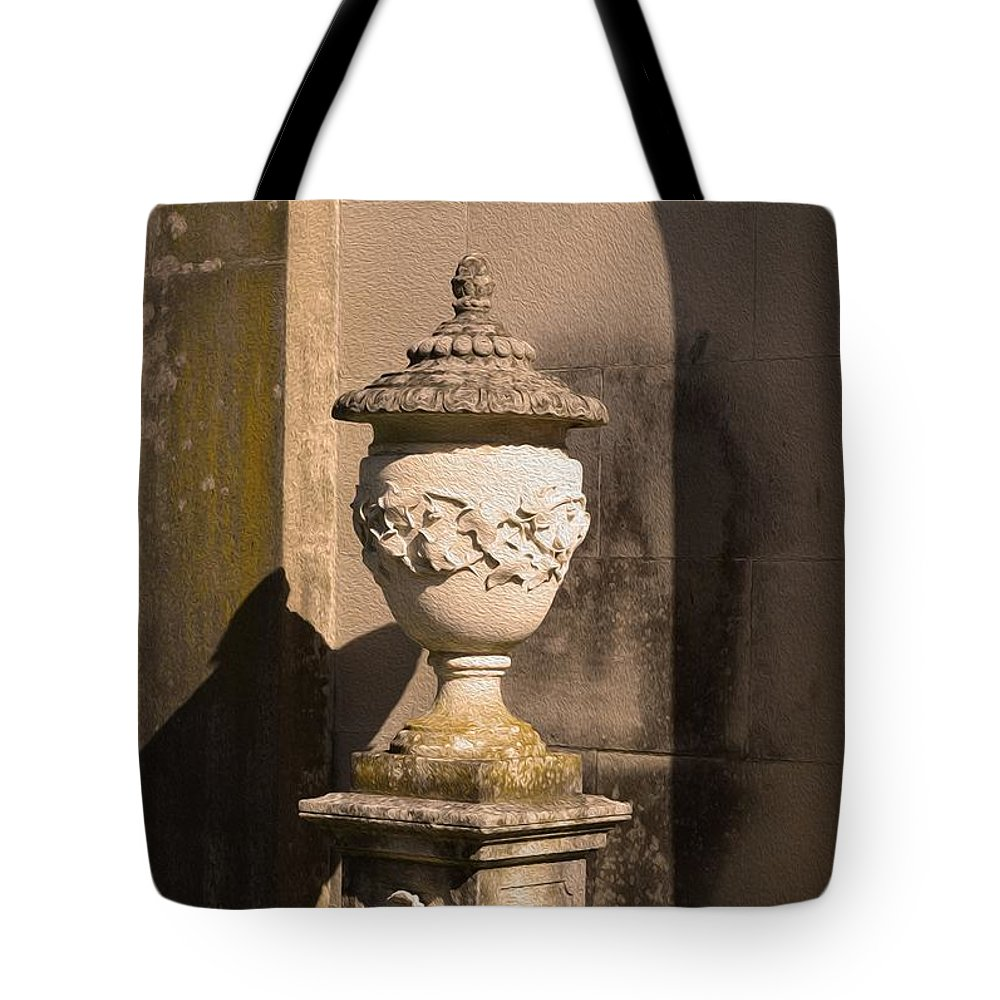Artistic Fountain Tote Bag featuring the photograph Artistic Fountain by Sonali Gangane