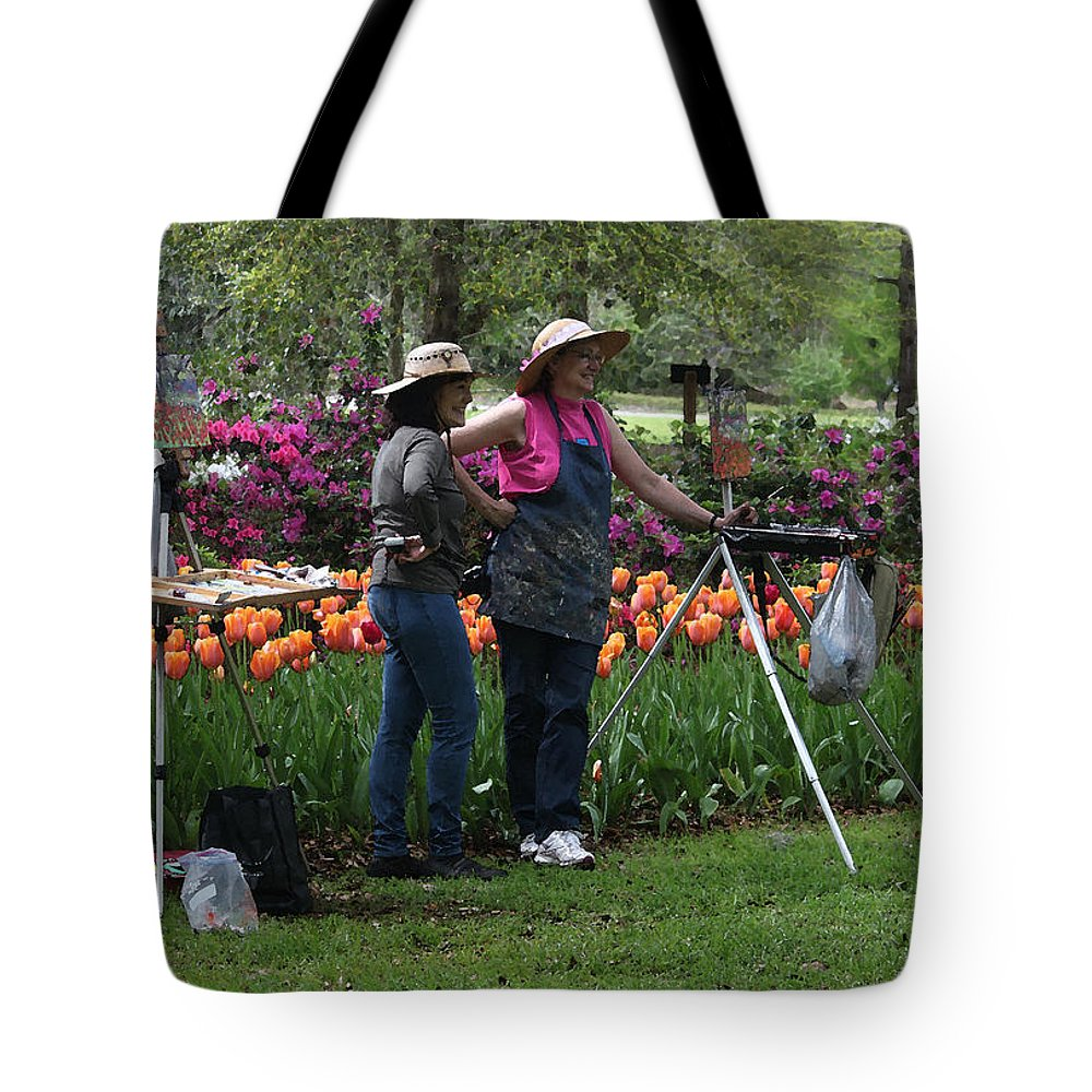People Tote Bag featuring the photograph Artists Posing For Papparazzi by Suzanne Gaff