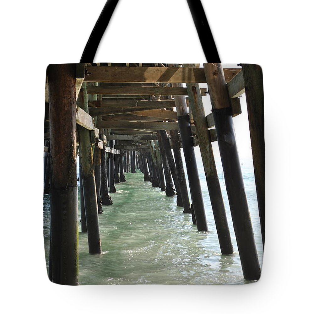 Ocean Tote Bag featuring the photograph Long Walk Short Pier by Charlotte Stevenson