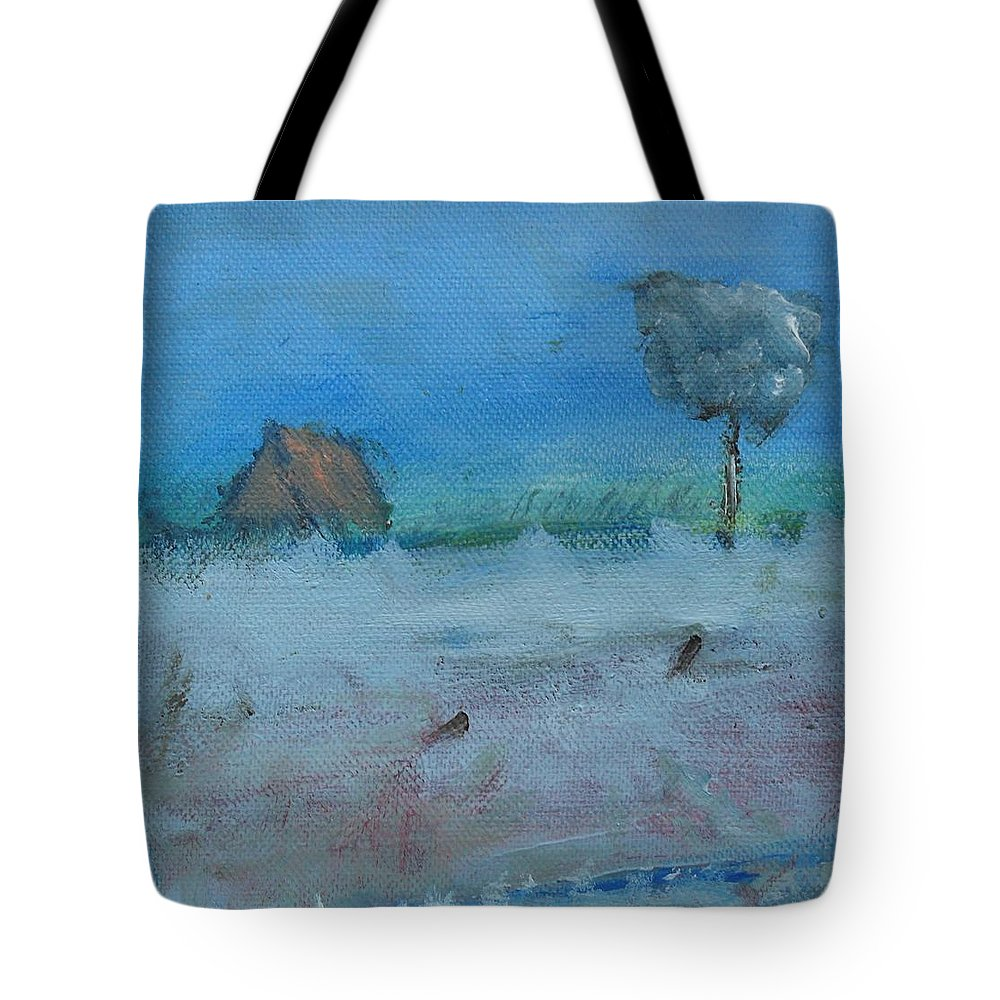 Irish Art Tote Bag featuring the painting As I Drove Past by Mary Feeney