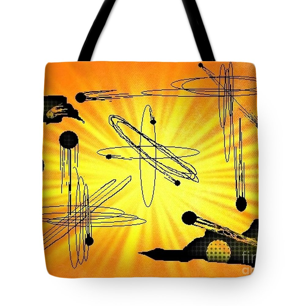 Abstract Art Tote Bag featuring the digital art As It Was In The Beginning Is Now And Ever Shall Be by John Malone
