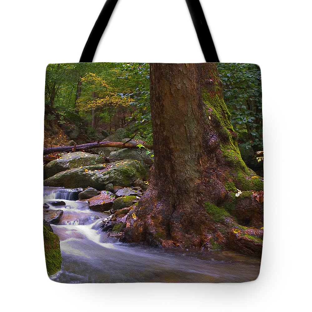 River Tote Bag featuring the photograph As The River Runs by Karol Livote