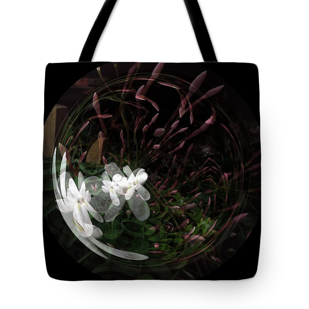 Jasmine Tote Bag featuring the photograph As Wood Nymphs Frolic by Renee Trenholm