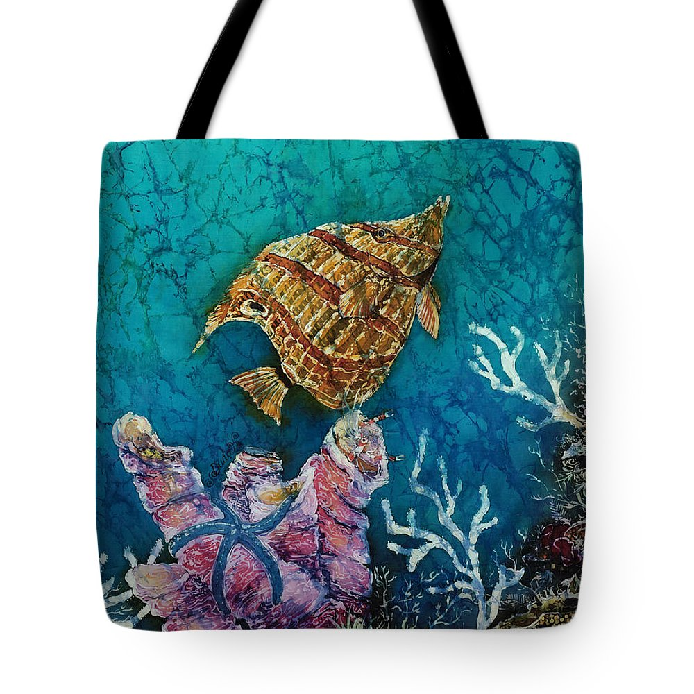 Ocean Tote Bag featuring the painting Ascent by Sue Duda