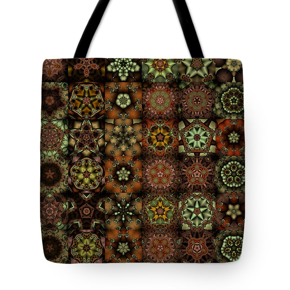 Brown Tote Bag featuring the digital art Asclepiads 6x8 by Ann Stretton