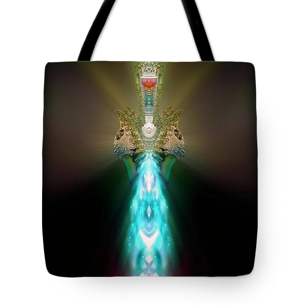 Angel Tote Bag featuring the digital art Ashmodiel by Raymel Garcia