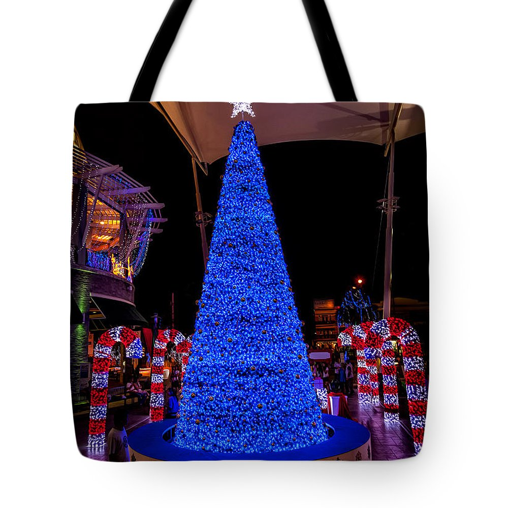 Hdr Tote Bag featuring the photograph Asian Christmas Display by Adrian Evans