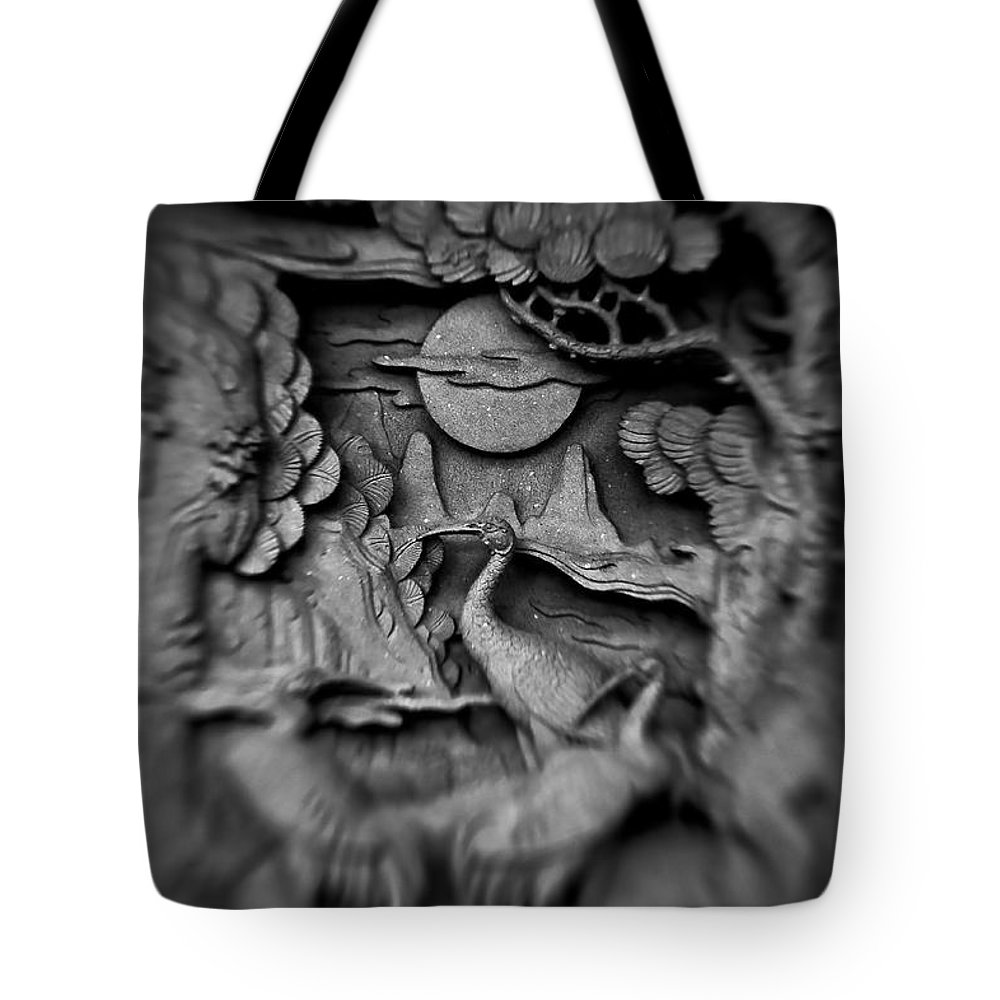 Asian Tote Bag featuring the photograph Asian Intricacy by Venetta Archer