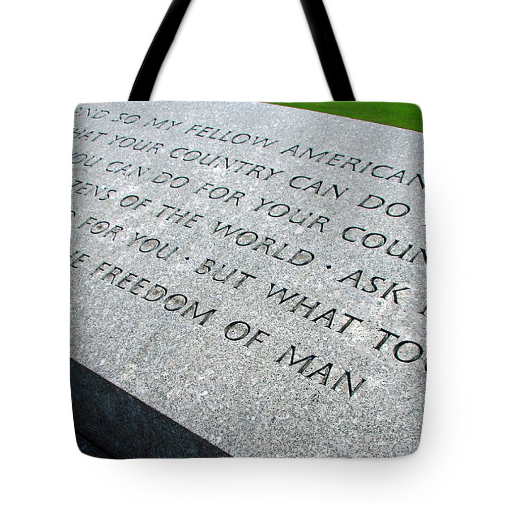 John Tote Bag featuring the photograph Ask Not For Yourself by Cora Wandel