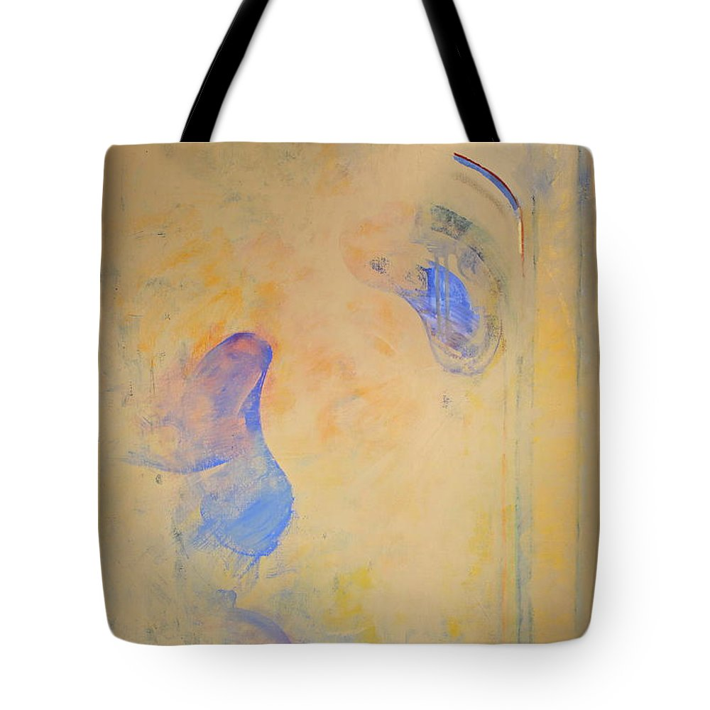 Abstract Paintings Tote Bag featuring the painting Assimilation Osmotically 2 Recycle by Cliff Spohn