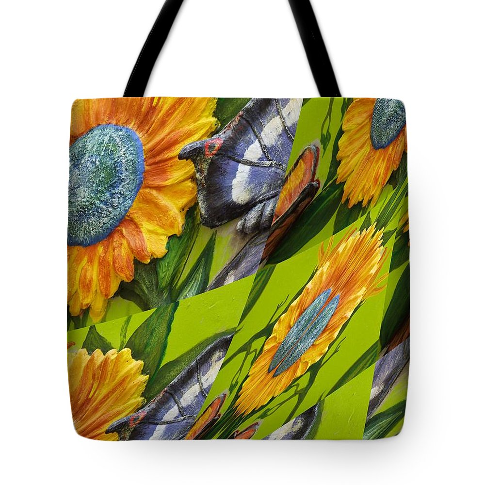 Tote Bag featuring the digital art Assorted by John Holfinger
