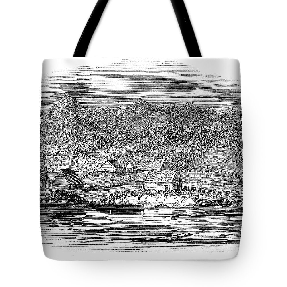 1843 Tote Bag featuring the painting Astoria, Oregon by Granger