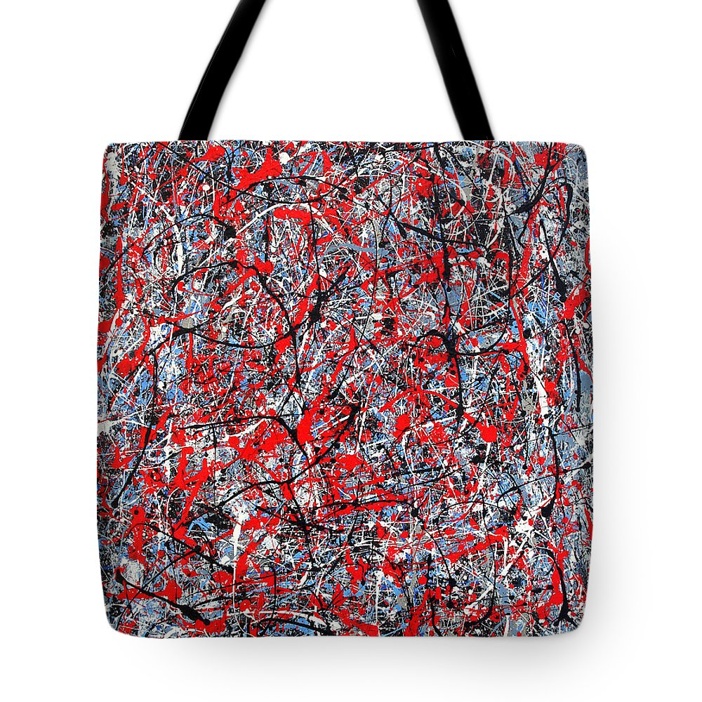 Abstract Tote Bag featuring the painting Astral Gate 2001 by RalphGM
