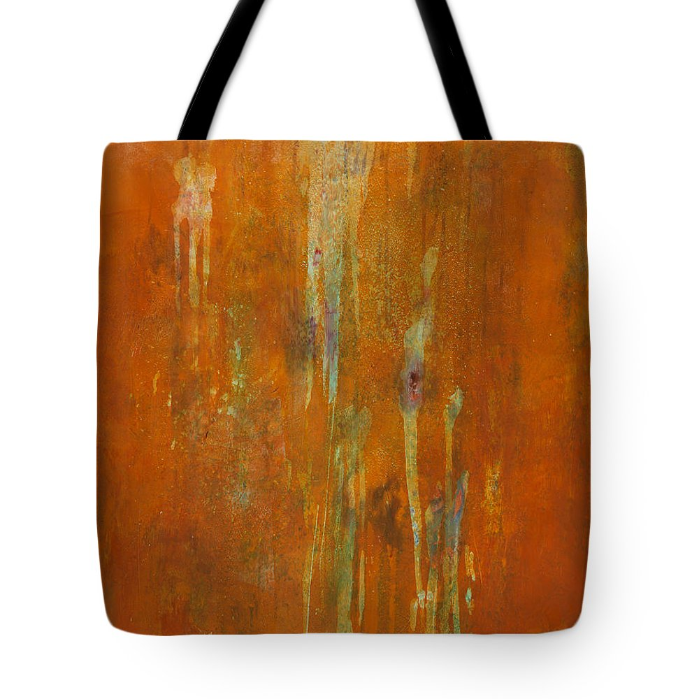 Abstract Tote Bag featuring the painting At Creation by Mark Witzling