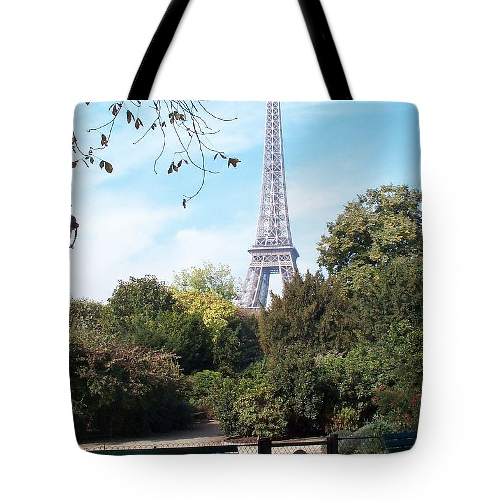 Eiffel Tower Tote Bag featuring the photograph At Last by Barbara McDevitt