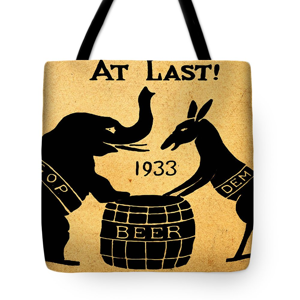 At Last Tote Bag featuring the drawing At Last by Bill Cannon