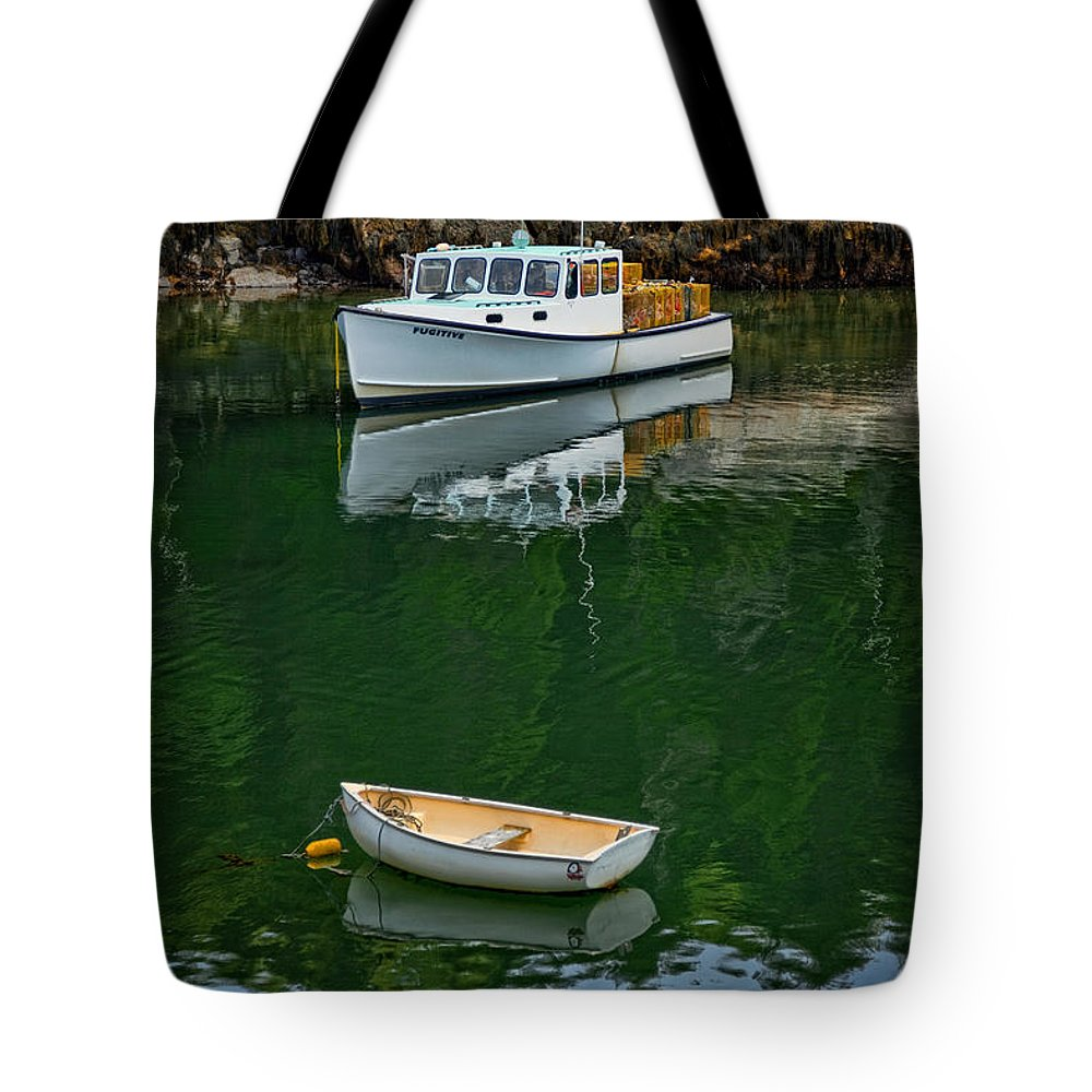 Lobster Trap Tote Bag featuring the photograph At Rest In The Cove by Diana Powell