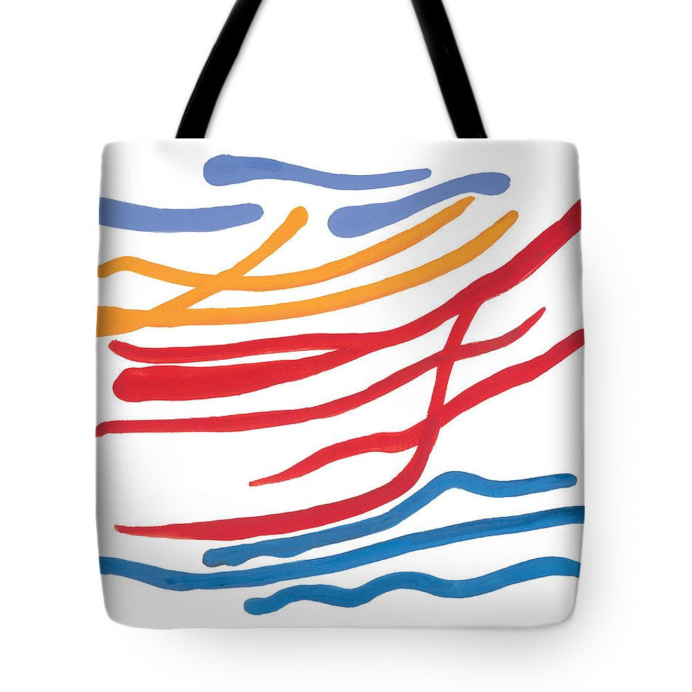 Nautic Tote Bag featuring the painting At Sea by Bjorn Sjogren