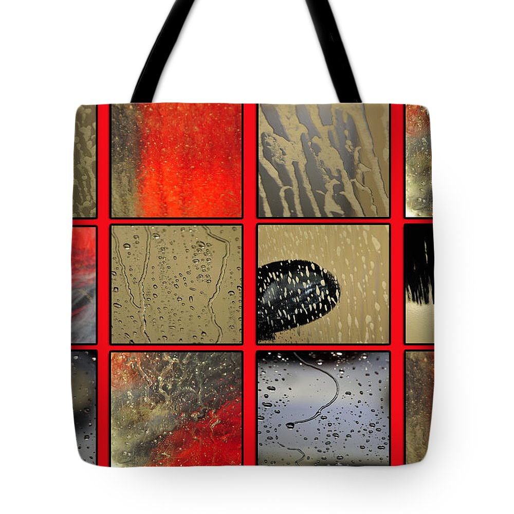 Abstract Tote Bag featuring the photograph At The Car Wash by Randi Grace Nilsberg