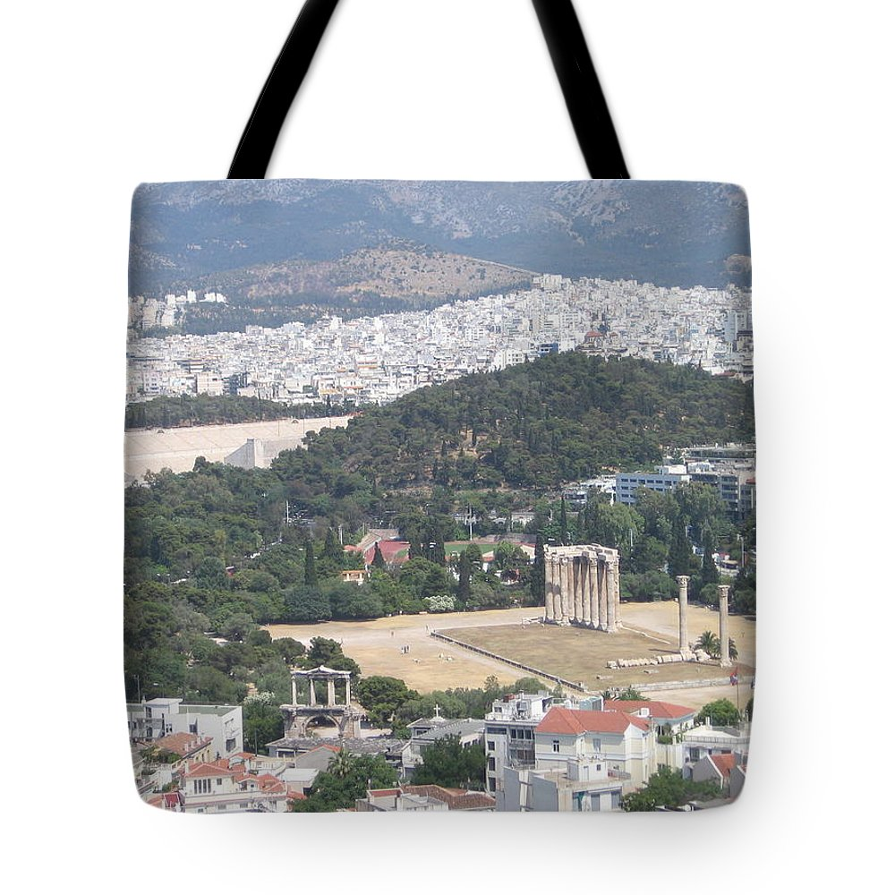 Zeus Tote Bag featuring the photograph Athens 3 by Kimberly Maxwell Grantier