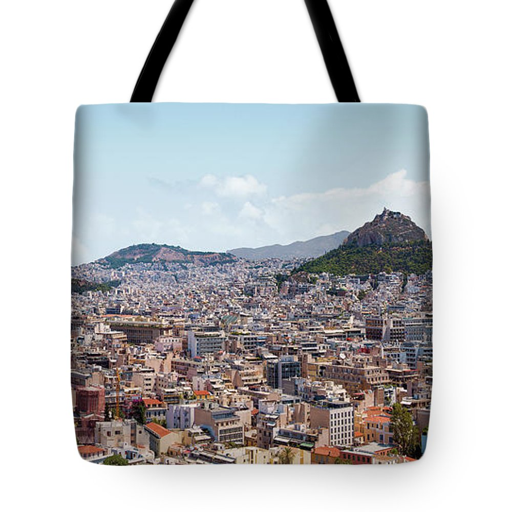 Greek Culture Tote Bag featuring the photograph Athens Panorama View From The Acropolis by Ed Freeman