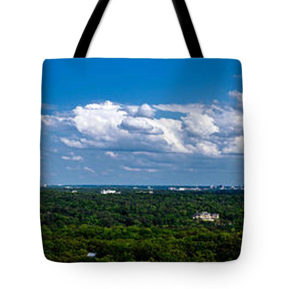 Atlanta Tote Bag featuring the photograph Atlanta From High by Georgia Fowler