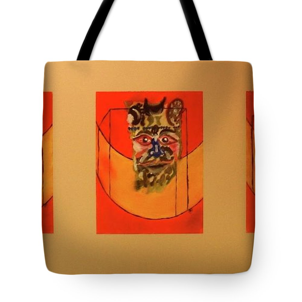 Oil Tote Bag featuring the painting Atlantic Ocean triptych by Roger Cummiskey