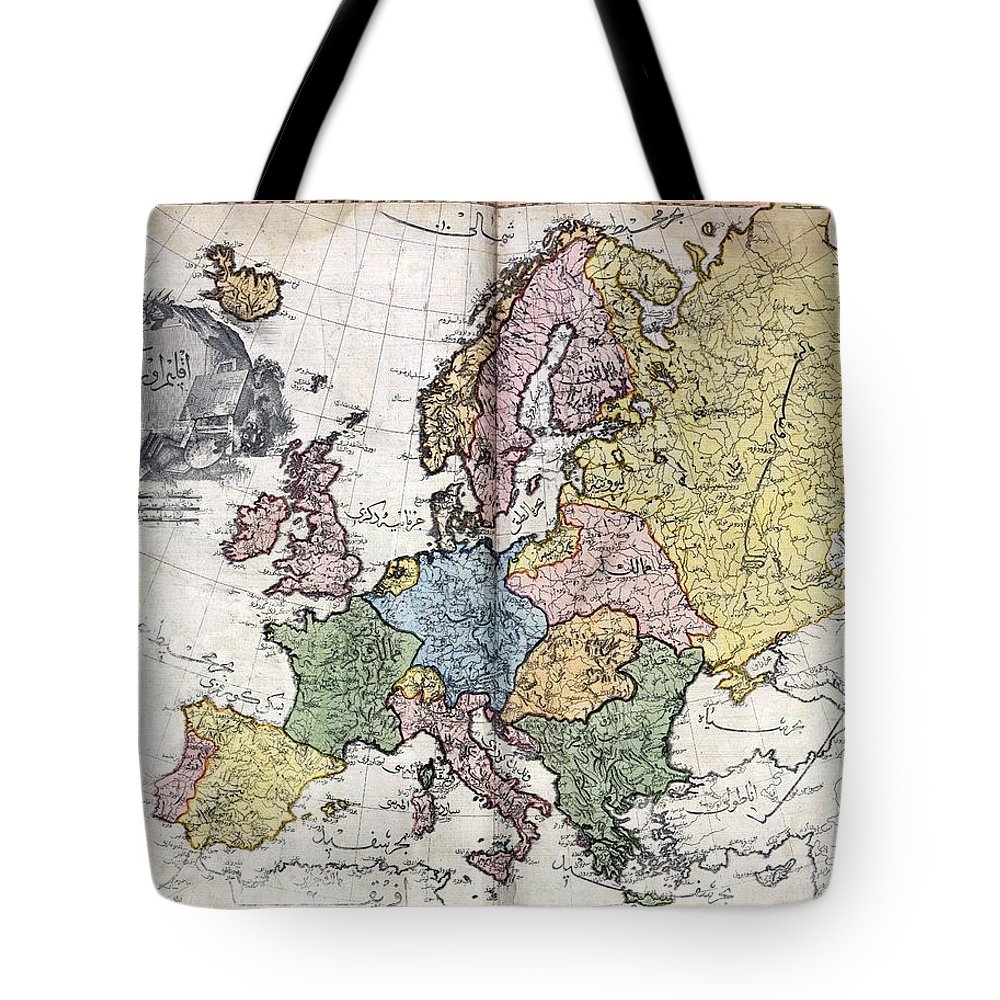 Atlas I Cedid Tote Bag featuring the painting Atlas I Cedid by MotionAge Designs