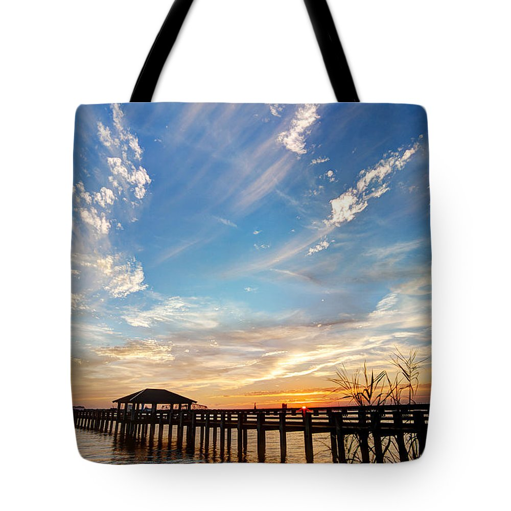 Mississippi Gulf Coast Tote Bag featuring the photograph Atmospheric by Joan McCool