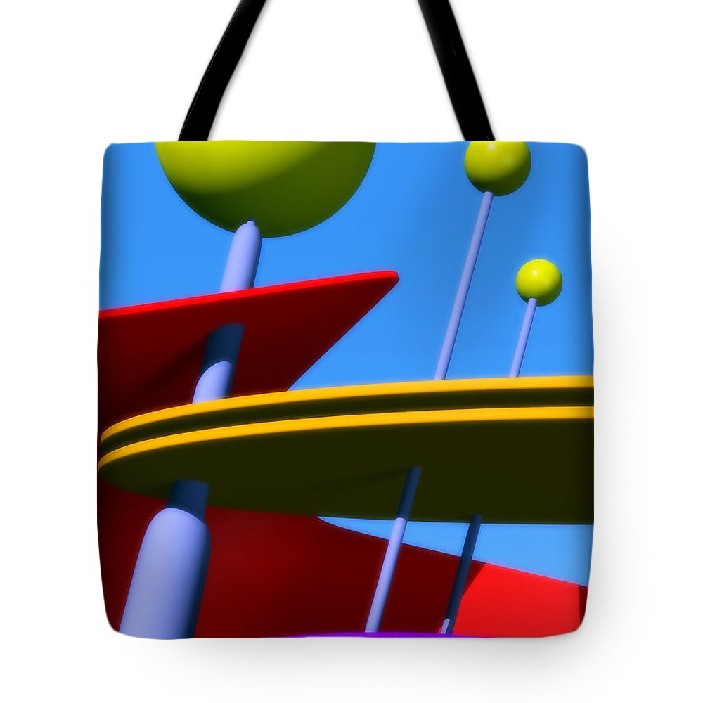 Atomic Age Tote Bag featuring the digital art Atomic Dream by Richard Rizzo