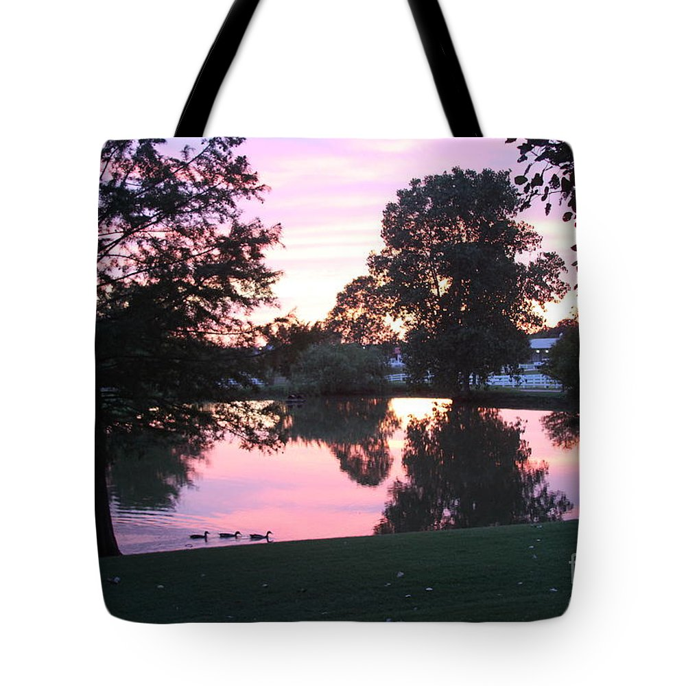 Nuclear Reflection Tote Bag featuring the digital art Atomic Reflection by L L L