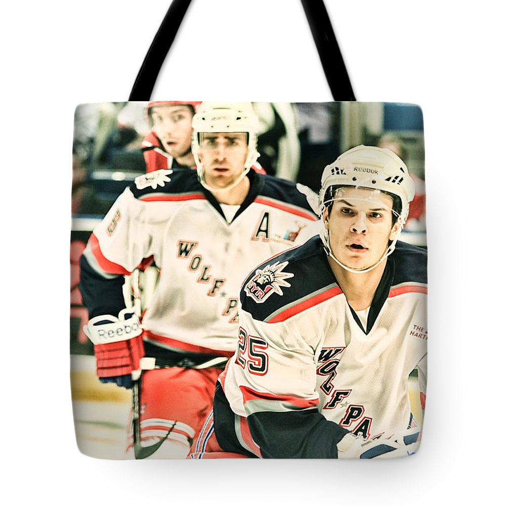 Hockey Tote Bag featuring the photograph Attention Is Everything by Karol Livote