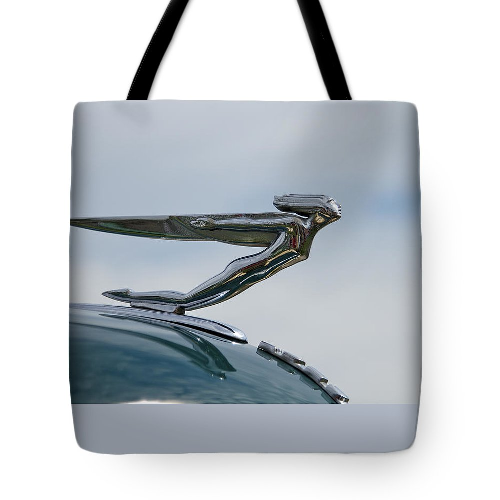 Glenmoor Tote Bag featuring the photograph Auburn 1935-36 Goddess by Jack R Perry